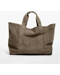James Perse Large Canvas Tote - Green
