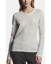 James Perse - Sheer Slub Long Sleeve Crew - Lyst