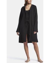 James Perse Raglan Fleece Robe - Black