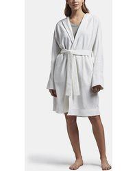James Perse Raglan Fleece Robe - White