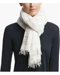 James Perse - Faliero Sarti Wool Plaid Scarf - Lyst