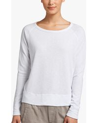 James Perse Vintage Fleece Long Sleeve Sweatshirt - White