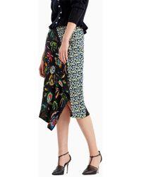 Jason Wu - Jungle Flower Crinkle Crepon Wrap Skirt - Lyst
