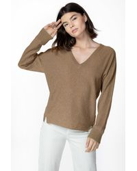 J Brand Gabbie V-neck Sweater Recycled Cashmere - Multicolor