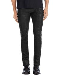 J Brand - Acrux Moto In Black Leather - Lyst