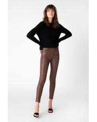 J Brand Alana High-rise Cropped Skinny - Brown