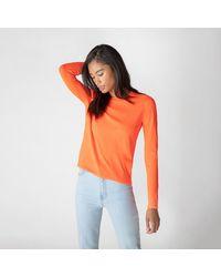 J Brand Josephine Long Sleeve Crew Neck Sweater - Orange