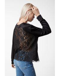 J Brand - Laissez Lace Long Sleeve Top - Lyst