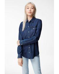 J Brand - Perfect Denim Shirt - Lyst