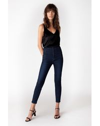 J Brand Natasha Sky-high Cropped Skinny - Blue