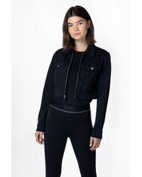 J Brand Cropped Zip Jacket - Black