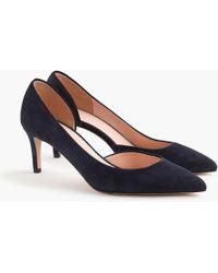 J.Crew Lucie Suede Court Shoes - Blue
