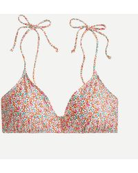 Liberty Tie-shoulder French Bikini Top In ® Eloise Floral - Multicolor