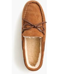 J.Crew - Classic Suede Moccasin Slippers - Lyst