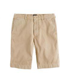 "J.Crew - 10.5"" Short In Garment-dyed Cotton - Lyst"