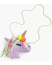 J.Crew Girls' Glitter Unicorn Bag - Multicolor
