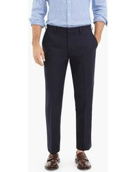 J.Crew - Ludlow Slim-fit Tuxedo Pant In Cotton Dobby - Lyst