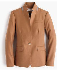 J.Crew Regent Blazer In Wool Flannel - Natural