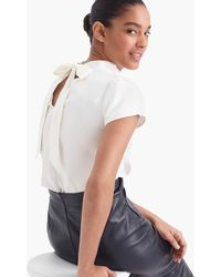 J.Crew - Collection Silk Bow-back Top - Lyst