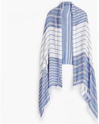 J.Crew - Summerweight Cape-scarf In Blue - Lyst