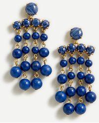 J.Crew Candy Dot Chandelier Earrings - Blue