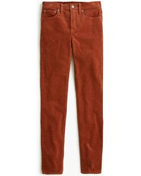 "J.Crew - Petite 9"" High-rise Toothpick Jean In Garment-dyed Corduroy - Lyst"