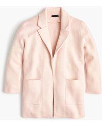 J.Crew Sophie Open-front Sweater-blazer - Pink