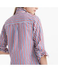 J.Crew - Tall Classic-fit Boy Shirt In Red-and-blue Stripe - Lyst