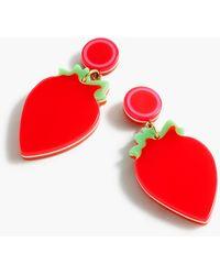 Edie Parker ® X J.crew Resin Strawberry Earrings - Red