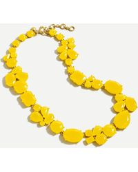 J.Crew Candy Gem Statement Necklace - Yellow