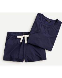 J.Crew Dreamy Pajama T-shirt Set - Blue