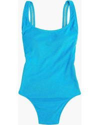 J.Crew - Plunging Scoopback One-piece Swimsuit In Terry - Lyst