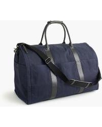 J.Crew Ludlow Garment Duffel Bag - Blue