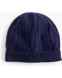 5da05db48b15d J.Crew - Ribbed Cable-knit Beanie In Everyday Cashmere - Lyst