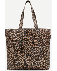 J.Crew Large Reusable Everyday Canvas Tote In Leopard - Brown