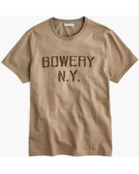 J.Crew - Wallace & Barnes Bowery Stencil Graphic Tubular T-shirt - Lyst