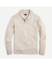 J.Crew - Rugged Merino Wool Two-button Shawl-collar Pullover - Lyst