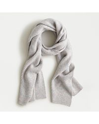 J.Crew Ribbed Scarf In Supersoft Yarn - Multicolour