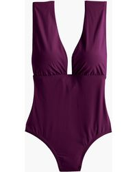 J.Crew - Plunge V-neck One-piece Swimsuit - Lyst