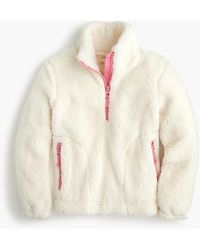J.Crew Girls' Sherpa Pullover - White