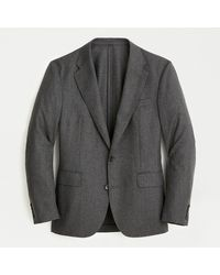 J.Crew Ludlow Classic-fit Unstructured Suit Jacket In English Wool-cotton - Gray