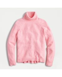 J.Crew Turtleneck Sweater In Supersoft Yarn - Pink