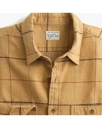 c6be69ed3730 J.Crew Midweight Herringbone Flannel Shirt In Tattersall in Green ...