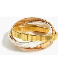 J.Crew - Interlocking Stretch Bracelets - Lyst