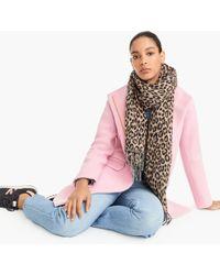 J.Crew - Wool-blend Scarf In Leopard - Lyst