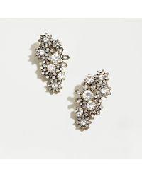 J.Crew Crystal Snowflakes Mini Climber Earrings - Multicolour