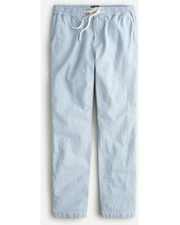 J.Crew Dock Pant In Stretch Chambray - Blue