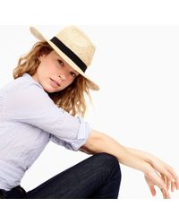 J.Crew Wide-brim Packable Straw Hat - Natural