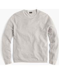 J.Crew - Cotton-cashmere Piqué Crewneck Sweater - Lyst