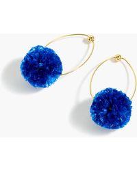 J.Crew - Raffia Pom-pom Earrings - Lyst